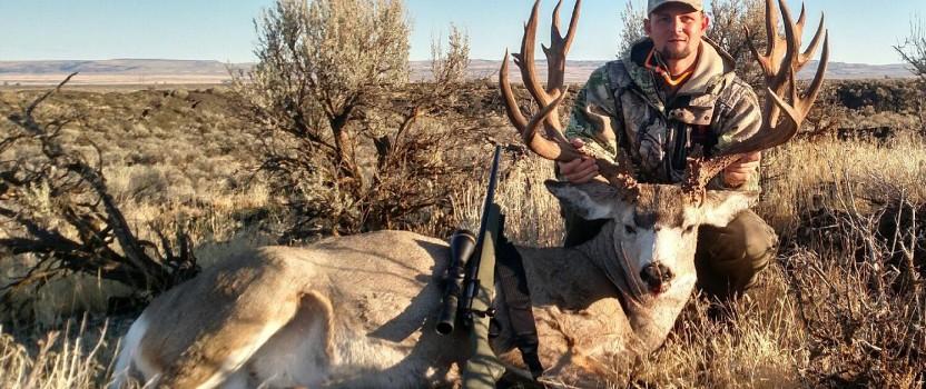 Jason Rost, harvests a 240″ plus Mule Deer with a Bergara B14 Hunter