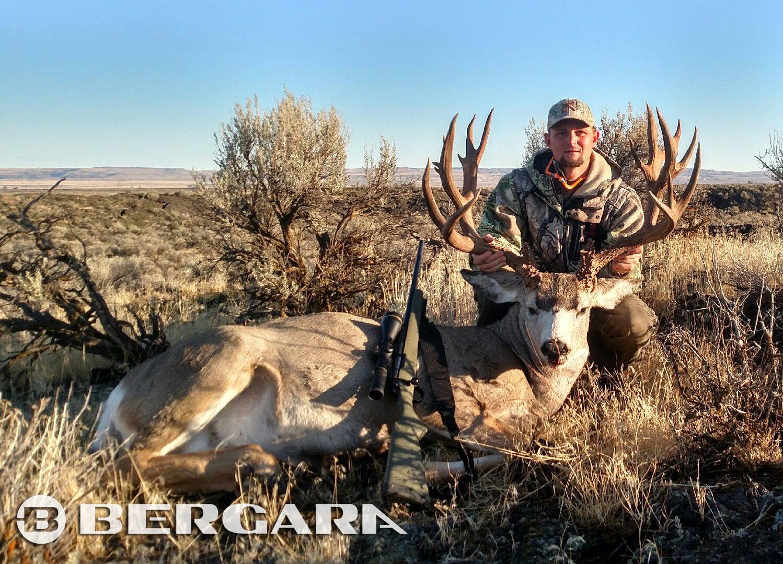 Jason Rost, harvests a 240 plus Mule Deer with a Bergara B14 Hunter