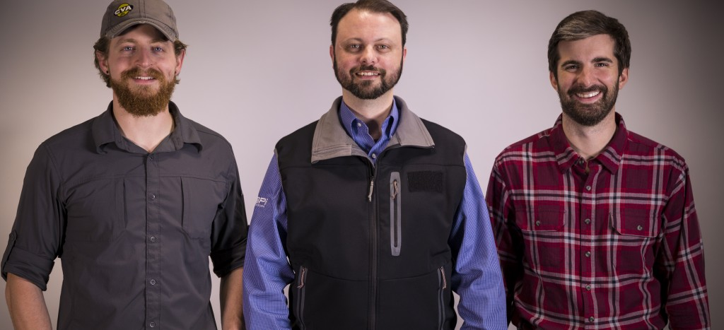 From left to right Chris Dearborn,Thomas MacAulay and Taylor LeBlanc.